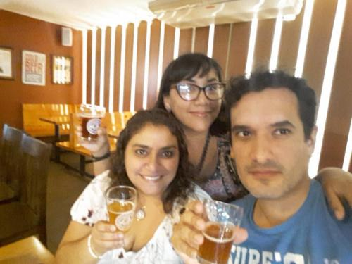 trying craft beer at Barranco Beer Company