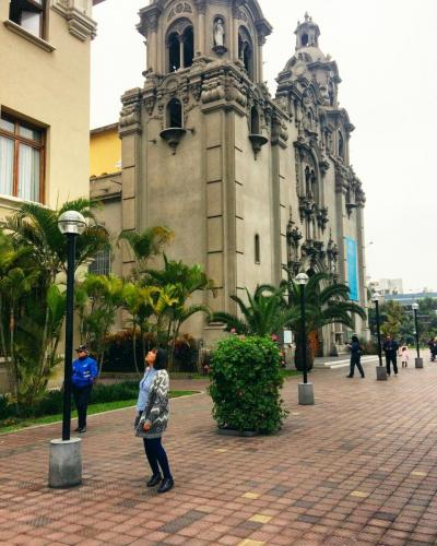 Church at the central park of Miraflores