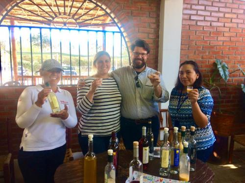 Trying Pisco at Ica's El Catador winary during our full day Ica Tour
